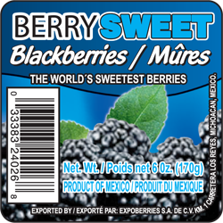 Berry Sweet Label
